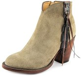 Lucchese Carly Round Toe Suede Ankle Boot.