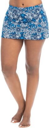 Santorini Aquashape Print A-Line Swim Skirt