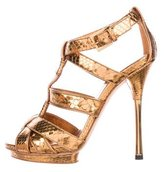 Gucci Snakeskin Cage Sandals