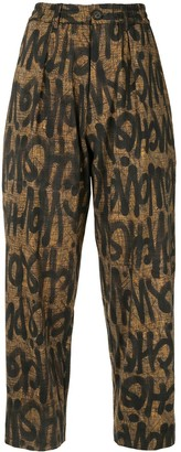 Pierre Louis Mascia Graffiti-Print Trousers