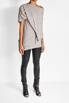Rick Owens Draped Tunic with Silk