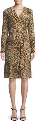 Frame Sgt. Pepper Leopard-Print Silk Dress