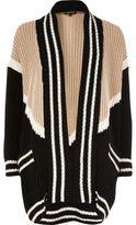 River Island Womens Black block print shawl neck cardigan