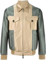 DSQUARED2 contrast bomber jacket - men - Cotton/Polyester - 46