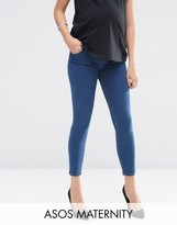 Asos Lisbon Skinny Jeans in Petal Bleach With Under The Bump Waistband