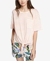 Sanctuary Echo Park Cotton Striped Tie-Hem Top