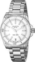 Gucci Women's YA136402 Dive Analog Display Swiss Quartz Silver Watch