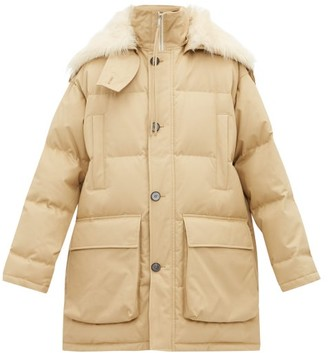 Jil Sander Shearling-trimmed Quilted Down-filled Jacket - Womens - Beige