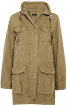 J.Crew Fatigue Hooded Cotton-canvas Jacket - small