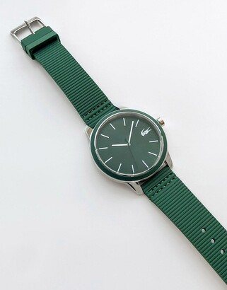Lacoste 12.12 silicone watch in green 2011085