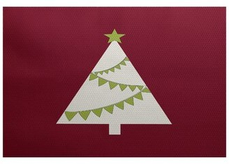 The Holiday Aisleâ® Christmas Tree Cranberry Flatweave Red Rug The Holiday AisleA Rug Size: Rectangle 2' x 3'
