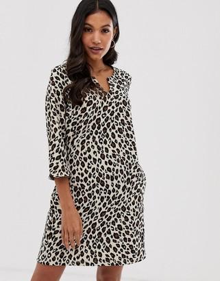 Vila leopard print smock dress