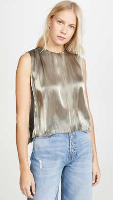 Vince Irridescent Pleated Shirt