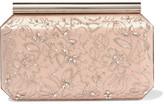 Oscar de la Renta Saya Embellished Satin Clutch - Blush