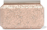 Oscar de la Renta Saya Embellished Satin Clutch - one size
