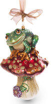 Jay Strongwater Frog on Mushroom Ornament