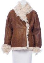 Oscar de la Renta Pocketed Shearling Jacket