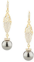Doris Panos As Is Simulated Pearl & Crystal Drop Earrings