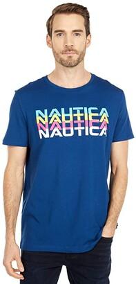 Nautica Fashion Tee (Blue) Men's Clothing
