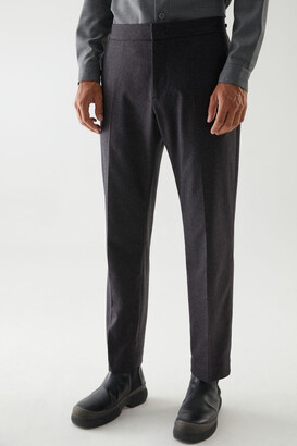 Cos Cashmere-Wool Mix Pleated Trousers