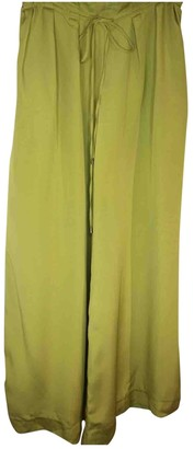 Christian Siriano Green Silk Trousers for Women