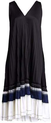 3.1 Phillip Lim V-Back Pleated Shift Dress