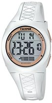 Calypso Unisex Digital Watch with LCD Dial Digital Display and White Plastic Strap K5668/1