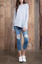J.o.a. Asymmetric Hem Sweater