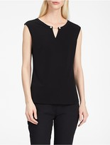 Calvin Klein Pearl V-Notch Sleeveless Top