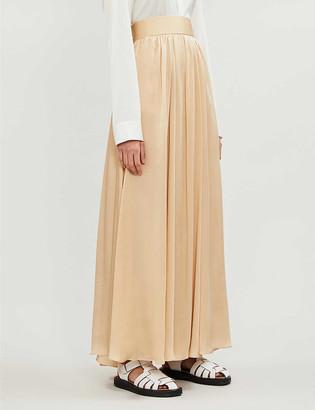 Zimmermann Super Eight high-waist silk-crepe de chine maxi skirt