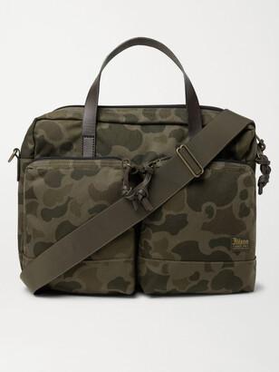 Filson Dryden Leather-Trimmed Nylon Briefcase - Men - Green