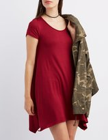 Charlotte Russe Scoop Neck Trapeze Shift Dress