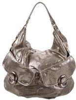 Anya Hindmarch Metallic Distressed Leather Hobo