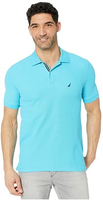 Nautica Solid Pique Polo (Blue 1) Men's Clothing