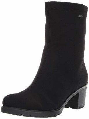 ara Women's Mercy Mid Calf Boot Black Fabric 6 Medium UK (8.5 US)