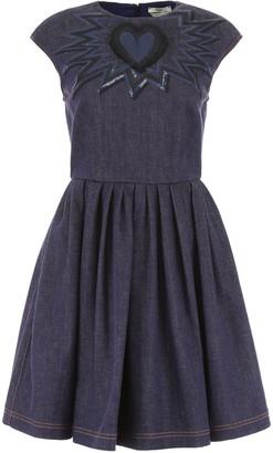 Fendi Embroidered Denim Mini Dress