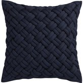 "CB2 Jersey Interknit Navy 20"" Pillow"