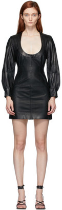 Situationist SSENSE Exclusive Black Leather Dress