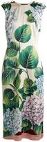 Dolce & Gabbana Hydrangea-print stretch-silk dress