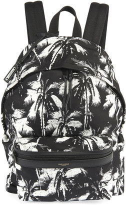 Saint Laurent Men's Two-Tone Palm Tree Backpack
