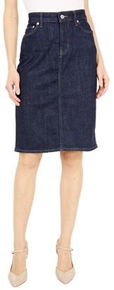 Lauren Ralph Lauren Petite Denim Skirt (Rinse Wash) Women's Skirt