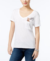 GUESS Panther Embroidered Pocket T-Shirt