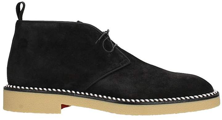 Christian Louboutin Black Suede Lace Up
