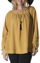 Point Zero Curvy Plus Sweetheart Neckline Blouse