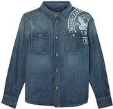 Diesel Shoulder logo denim shirt 4-16 years