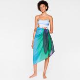 Paul Smith Women's Navy Ombré Cotton-Silk Sarong