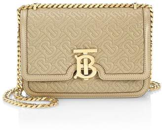Burberry Small TB Monogram Quilted Leather Shoulder Bag
