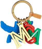 MCM Logo Letter Keyring, White, One Size