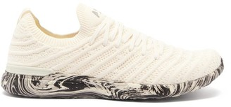 Athletic Propulsion Labs Techloom Wave Marbled-sole Trainers - White