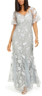 Alex Evenings Embroidered Gown